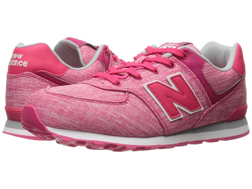 New Balance Kids KL574v1 (Big Kid) (Pink/White 3) Girls Shoes
