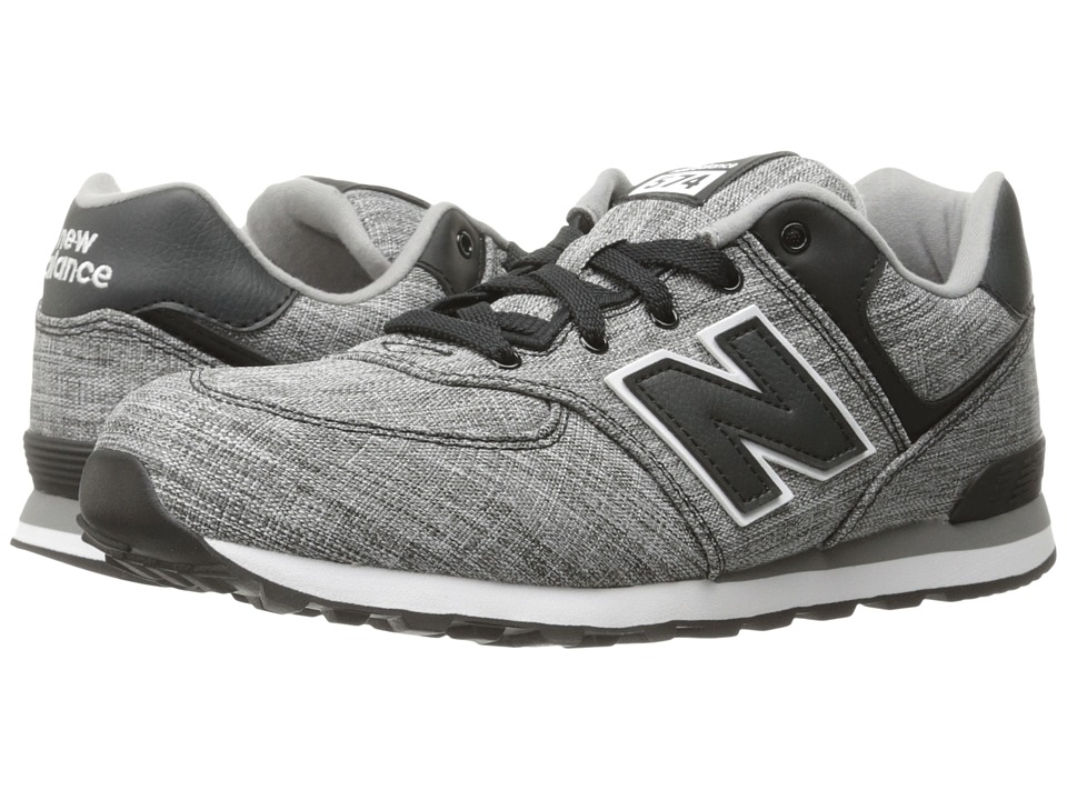 New Balance Kids KL574v1 (Infant/Toddler) (Black/White 2) Boys Shoes