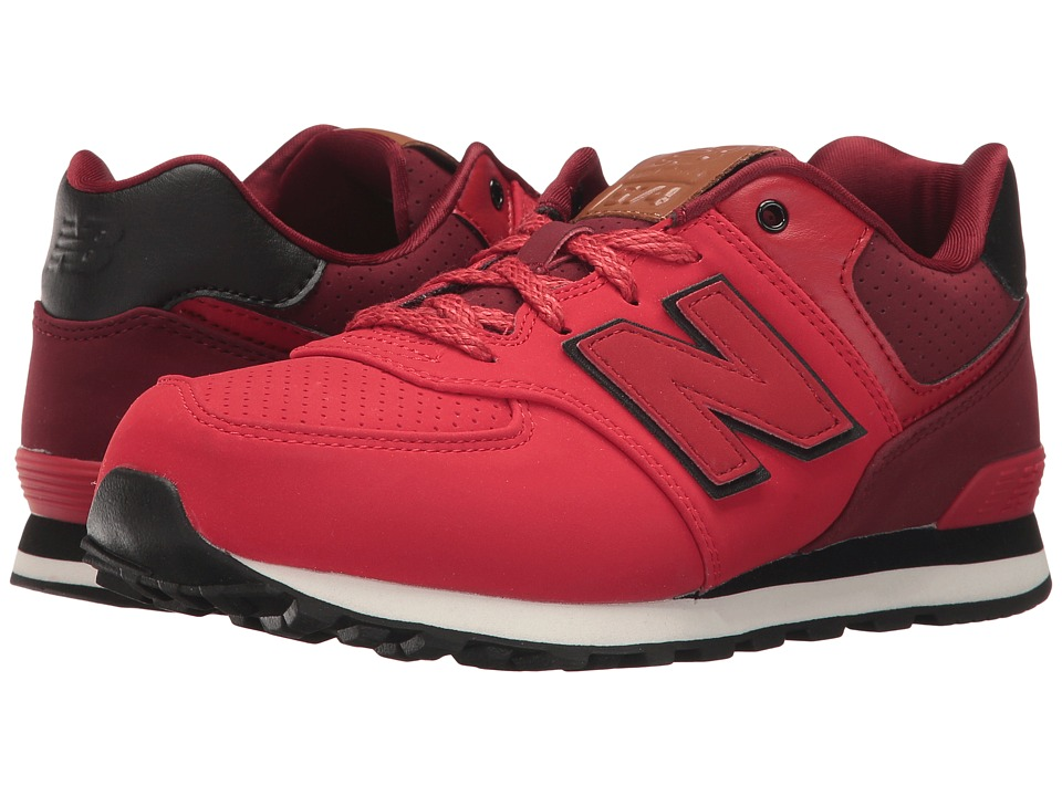 New Balance Kids - KL574v1 (Big Kid) (Red/Black 2) Boys Shoes