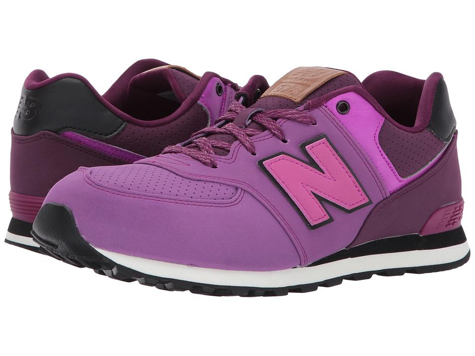 New Balance Kids KL574v1 (Big Kid) (Purple/Black) Girls Shoes