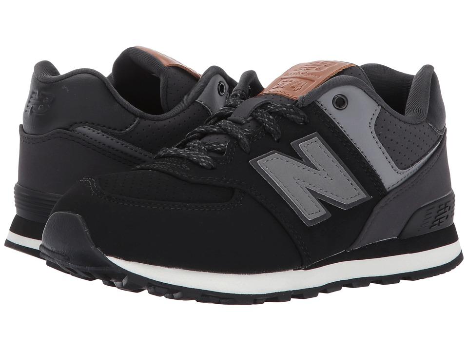New Balance Kids - KL574v1 (Little Kid) (Black/White 3) Boys Shoes