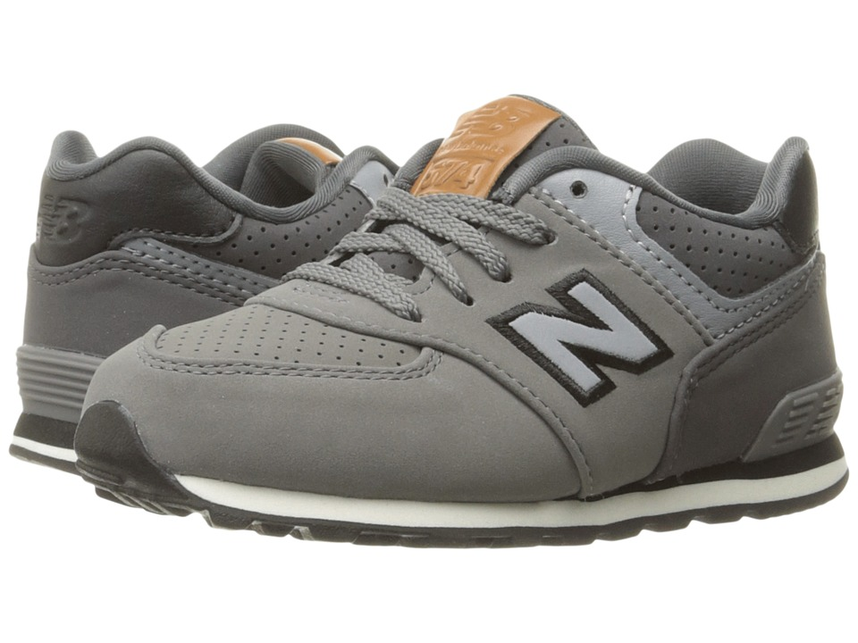 New Balance Kids KL574v1 (Infant/Toddler) (Grey/Black) Boys Shoes