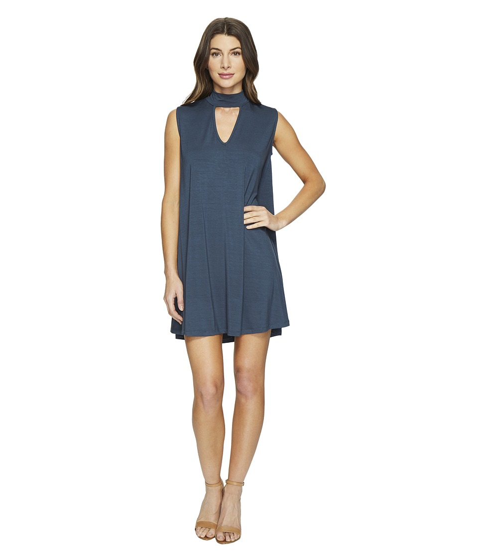 Culture Phit Ashlynn High Neck Dress (Teal) Women