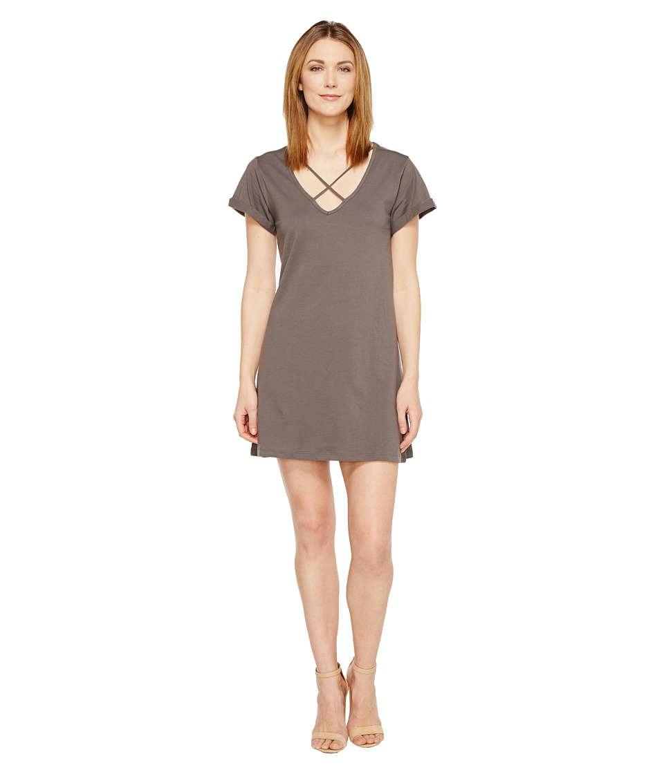 Culture Phit Keelie Short Sleeve Dress with Strap Detail (Charcoal) Women