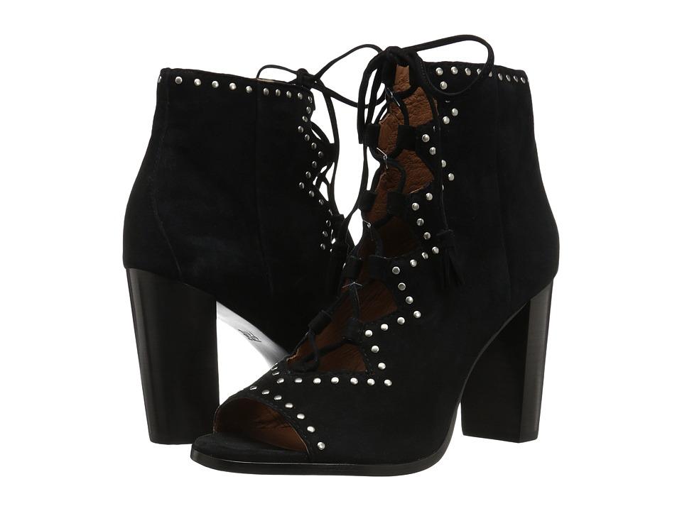 Frye - Gabby Ghillie Stud (Black Suede) High Heels