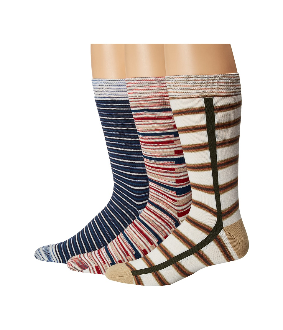 Missoni - Pre Pack Trio Ankle Socks (Multi) Men's Crew Cut Socks Shoes