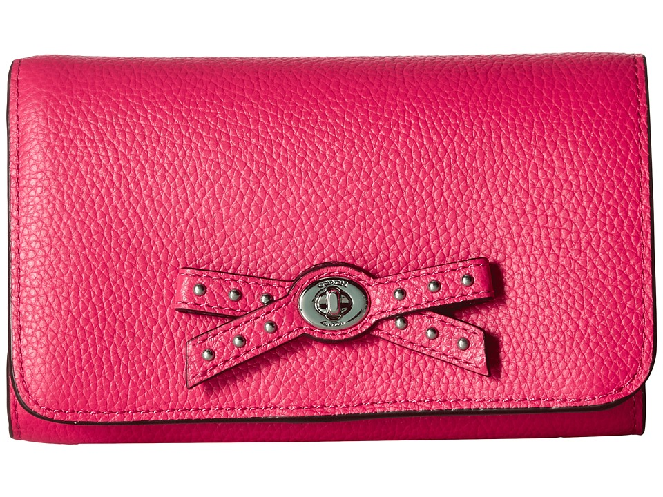 COACH - Bow Turnlock Tie Medium Wallet (Amaranth) Wallet Handbags