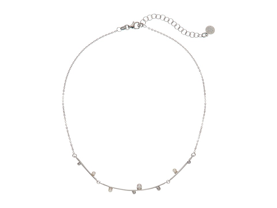 Majorica - Pearl Collar Chain Necklace (White) Necklace