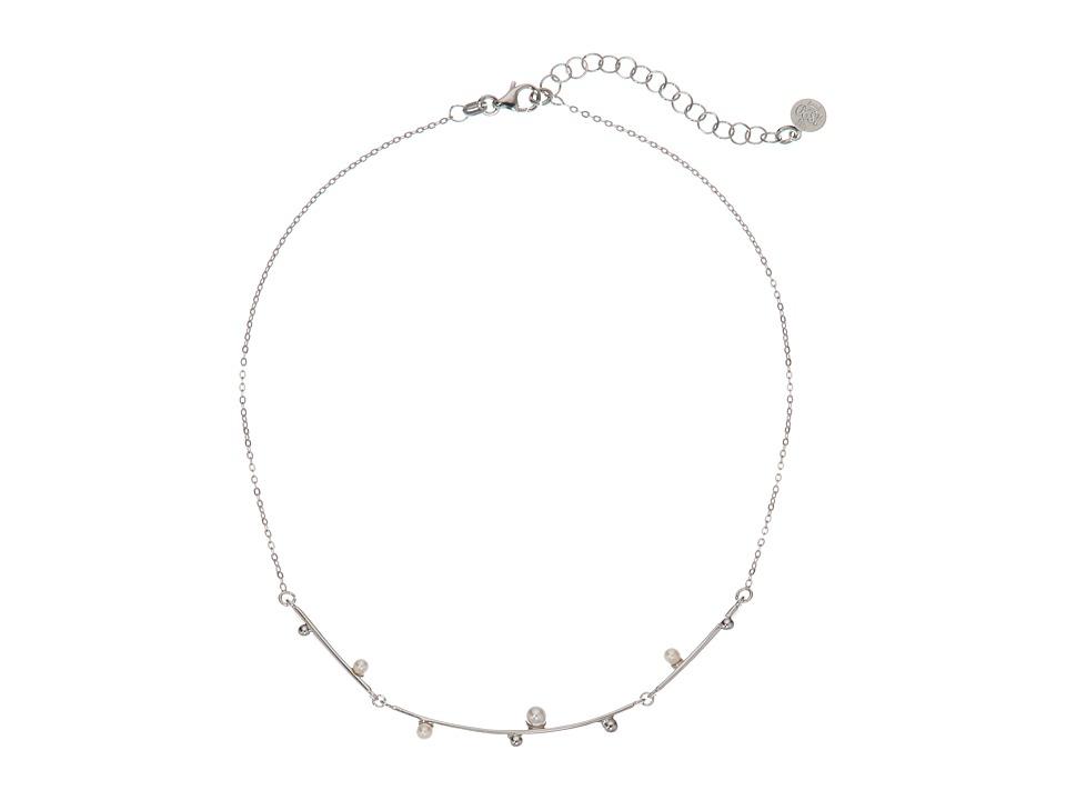 Majorica - Pearl Collar Chain Necklace (White) Necklace
