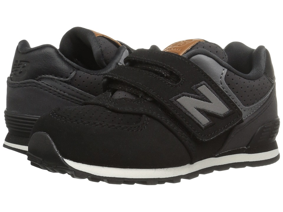 New Balance Kids KV574v1 (Infant/Toddler) (Black/White 2) Boys Shoes