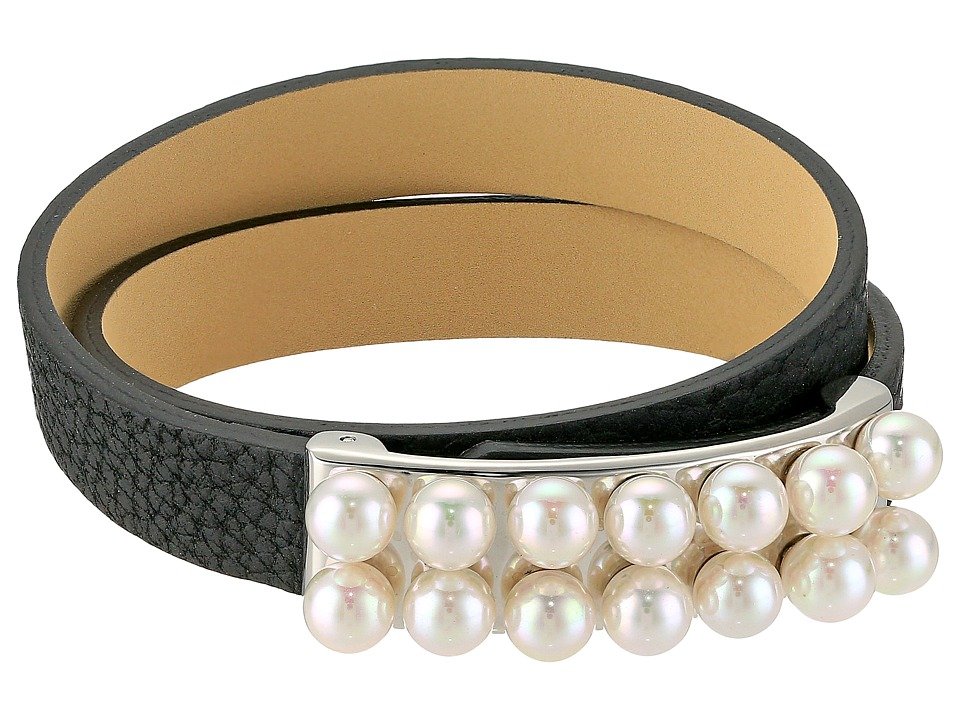 Majorica - 6mm Leather Bracelet (White) Bracelet