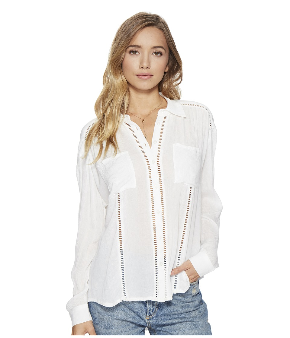 Amuse Society - Belmont Woven Top (Casa Blanca) Women's Clothing