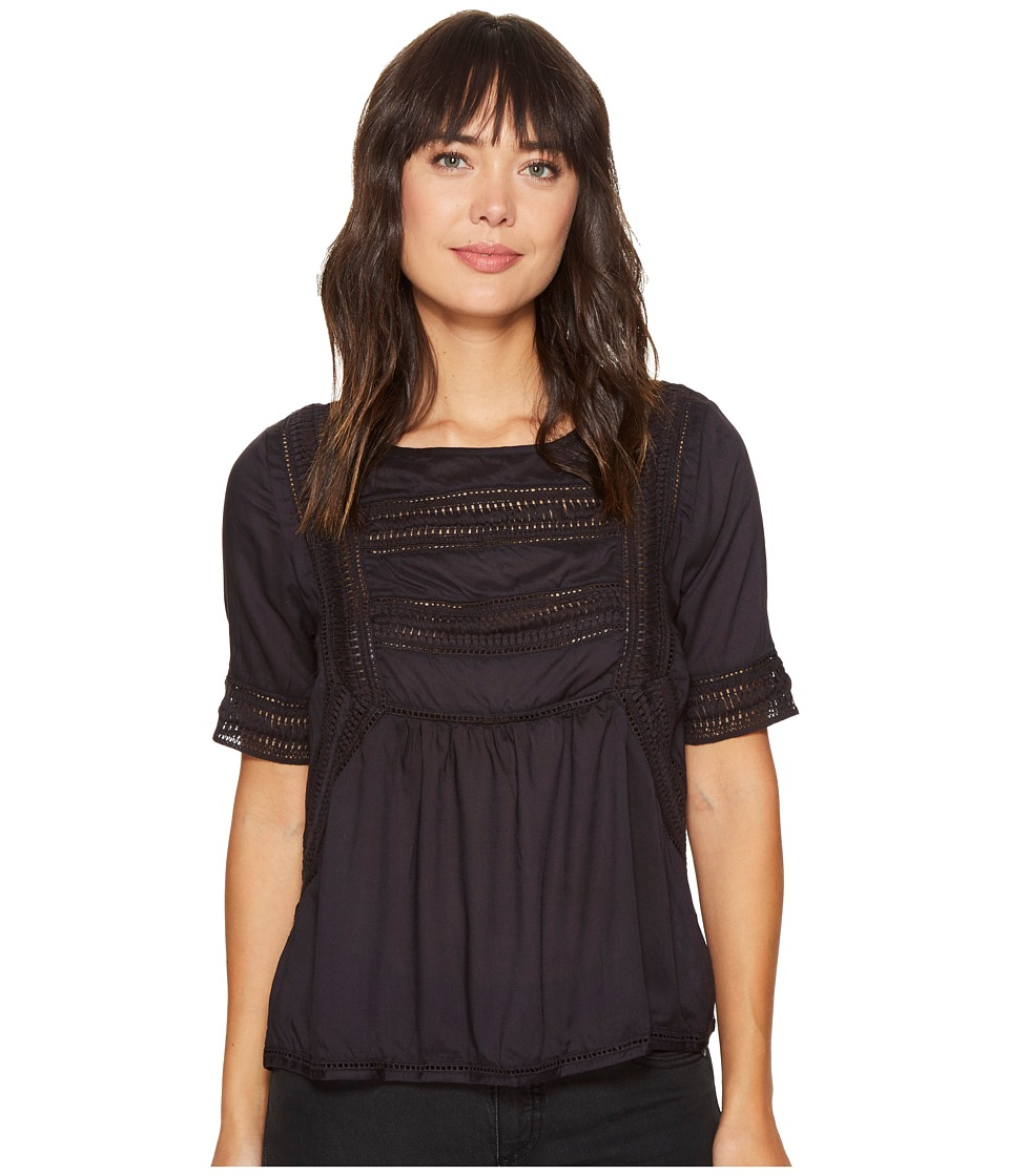 Amuse Society - St. Germain Woven Top (Black) Women's Clothing