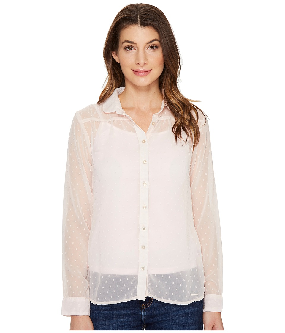 U.S. POLO ASSN. - Swiss Dot Cleo Blouse (Pearl) Women's Blouse