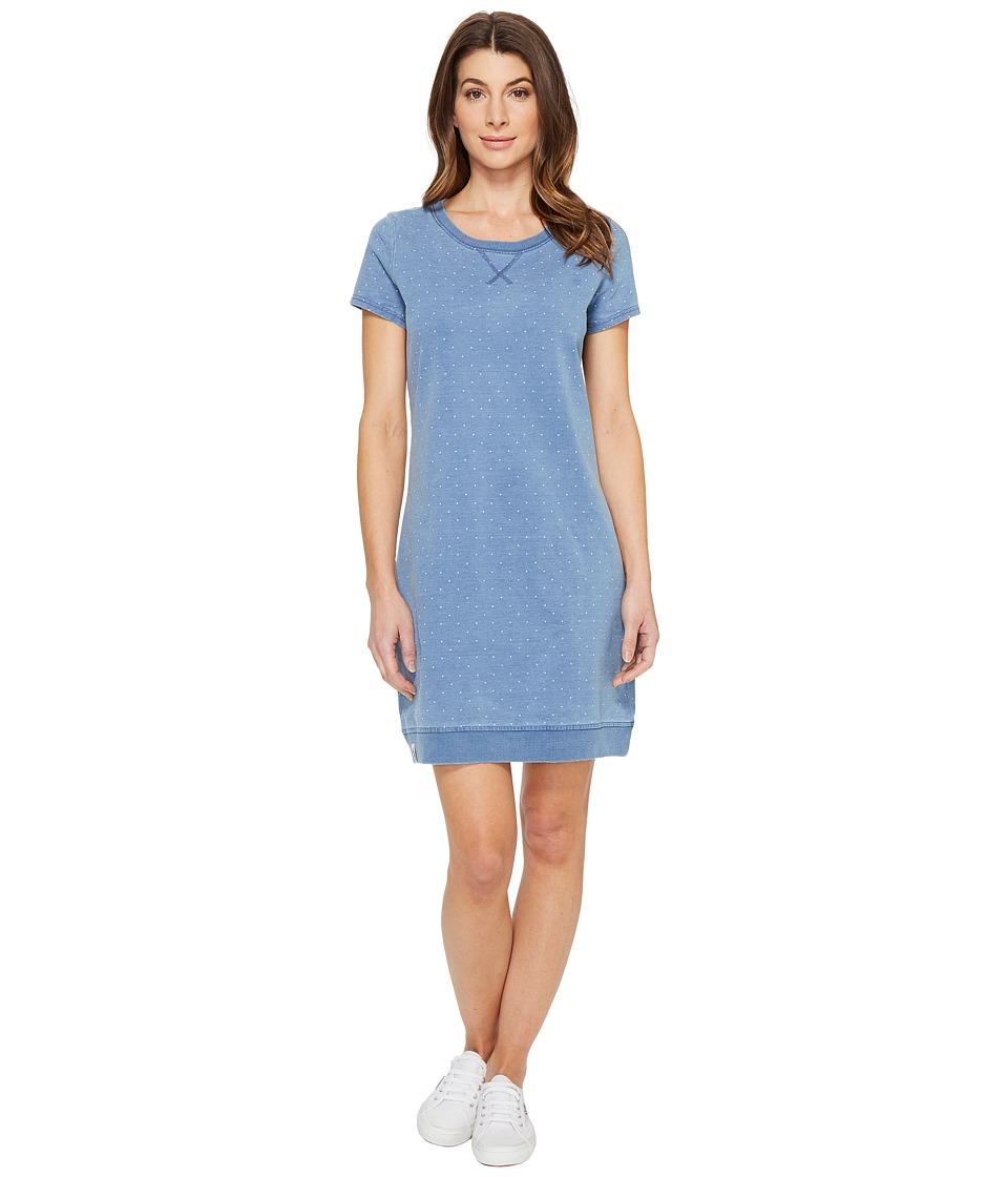 U.S. POLO ASSN. Short Sleeve Argyle Pindot Sweatshirt Dress (Argyle Pindot) Women