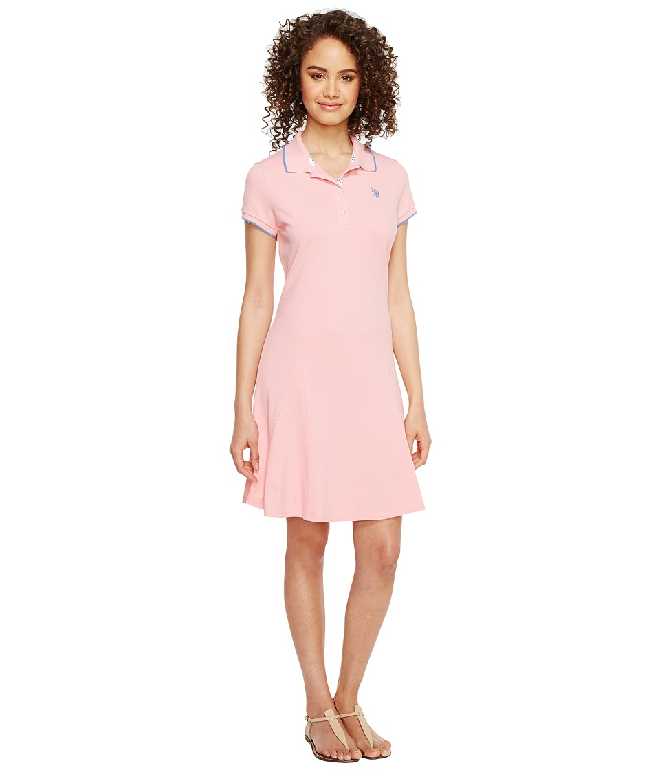 U.S. POLO ASSN. - Pique Polo Dress (Geranium Pink) Women's Dress