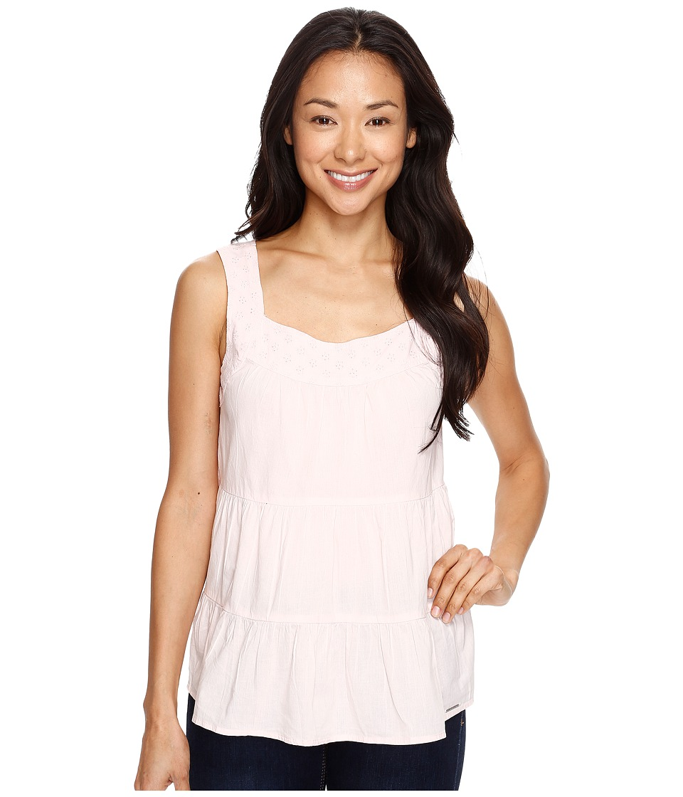 U.S. POLO ASSN. - Tiered Cambric and Eyelet Tank Top (Strawberry Cream Pink) Women's Sleeveless