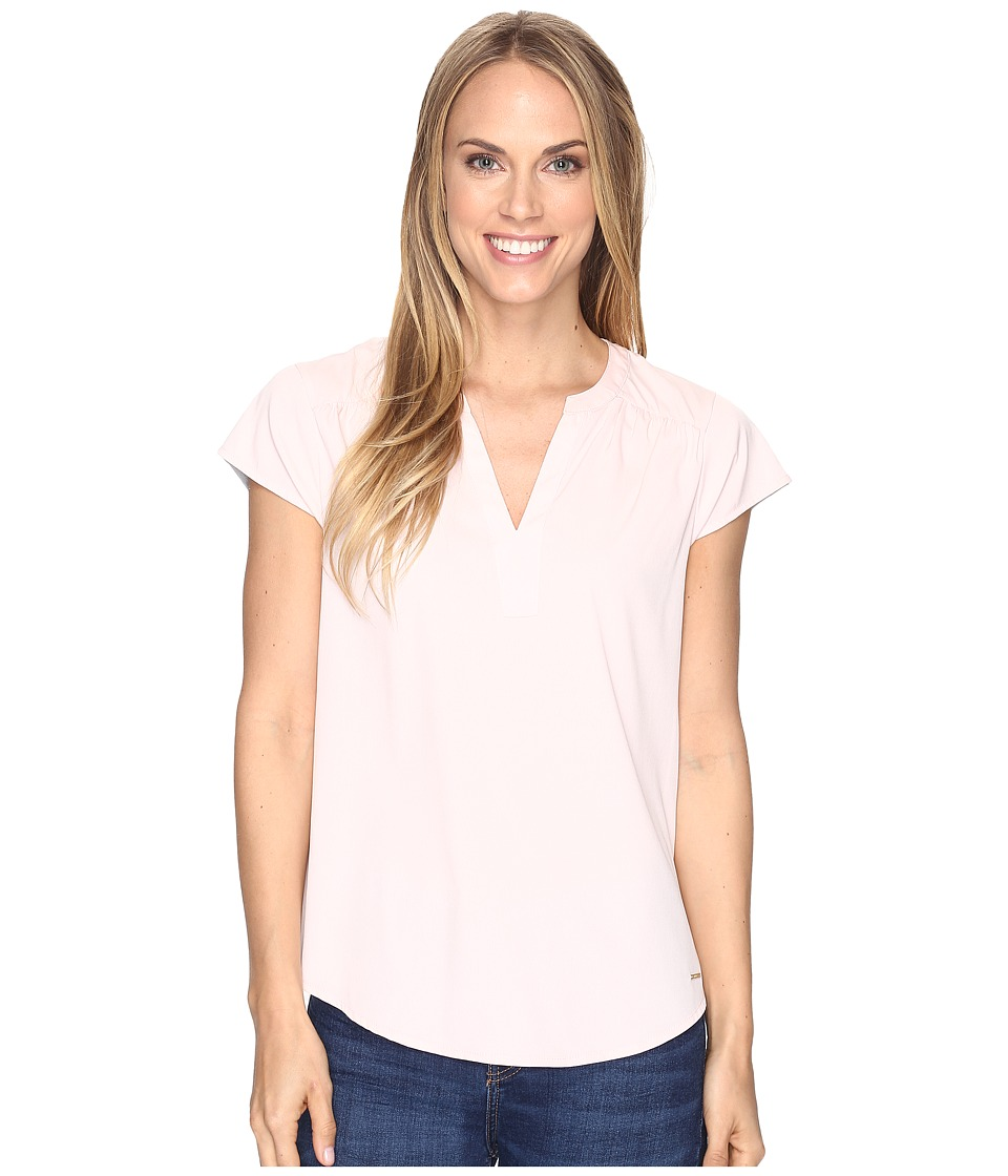 U.S. POLO ASSN. - Short Flutter Sleeve T-Shirt (Pink Daisy) Women's T Shirt