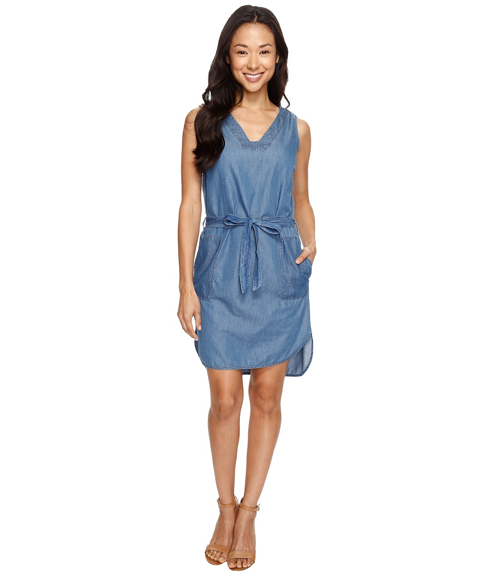 U.S. POLO ASSN. - Sleeveless Tencel Denim Dress (Indigo) Women's Dress