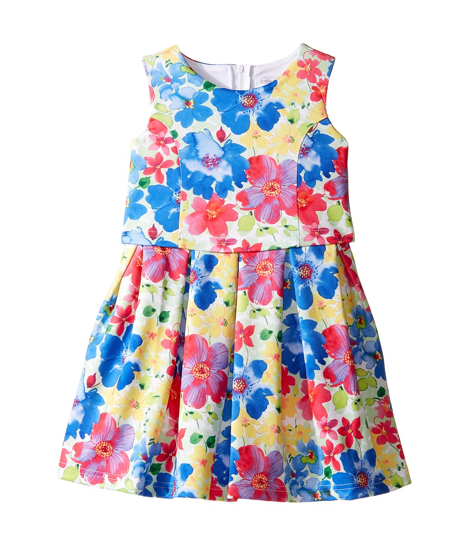 Us Angels - Sleeveless Princess Bodice Popover Dress (Little Kids) (Multi) Girl's Dress