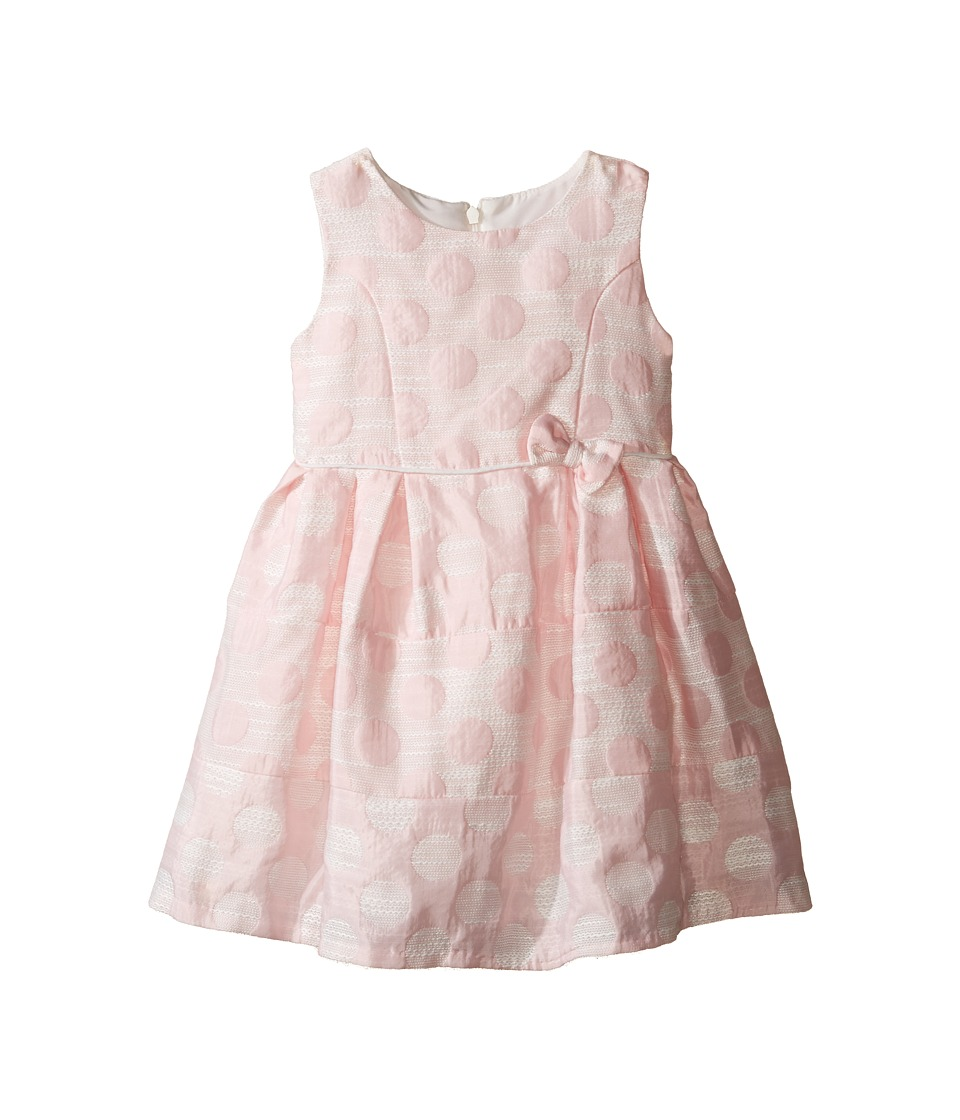 Us Angels - Sleeveless Empire Poly Jacquard with a Full Skirt Dress (Toddler) (Light Pink) Girl's Dress