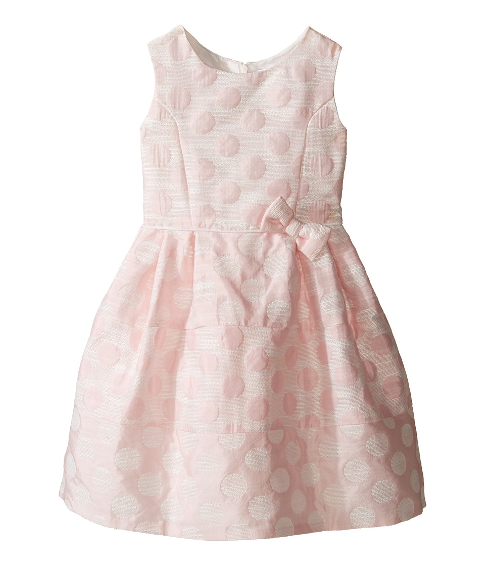 Us Angels - Sleeveless Empire Poly Jacquard with a Full Skirt Dress (Little Kids) (Light Pink) Girl's Dress