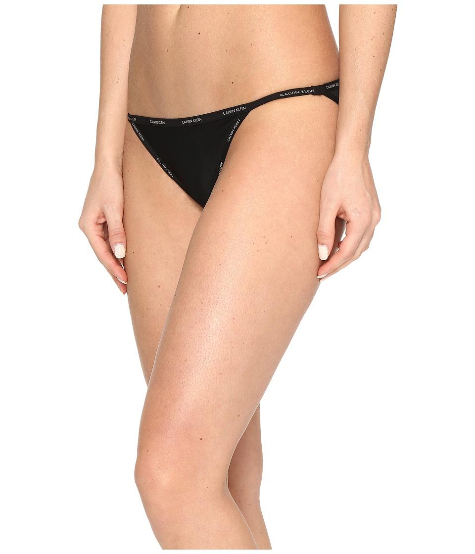 Calvin Klein Underwear - Sheer Marquisette String Bikini (Black) Women's Underwear