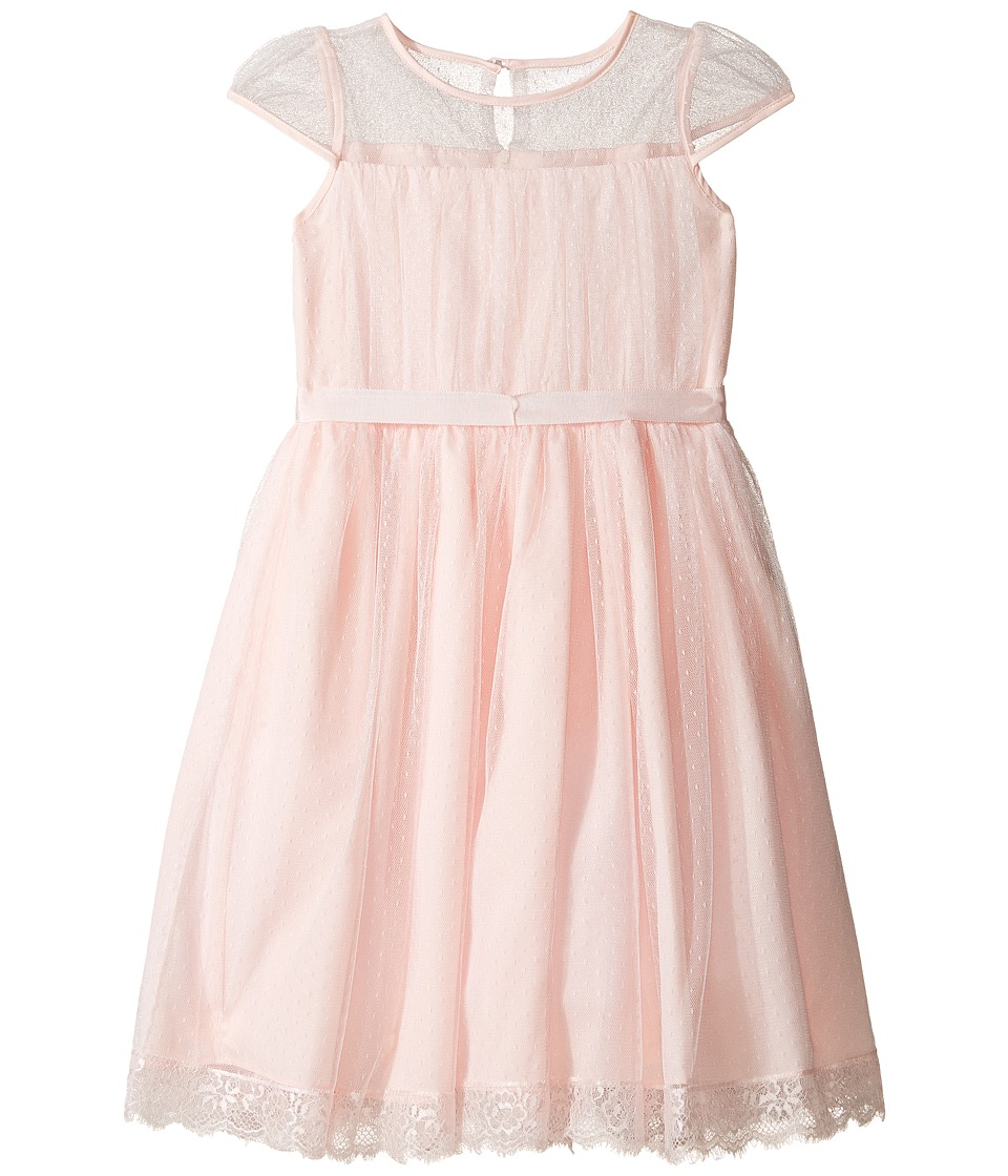 Us Angels - Point D' Esprit Dress (Big Kids) (Blush) Girl's Dress