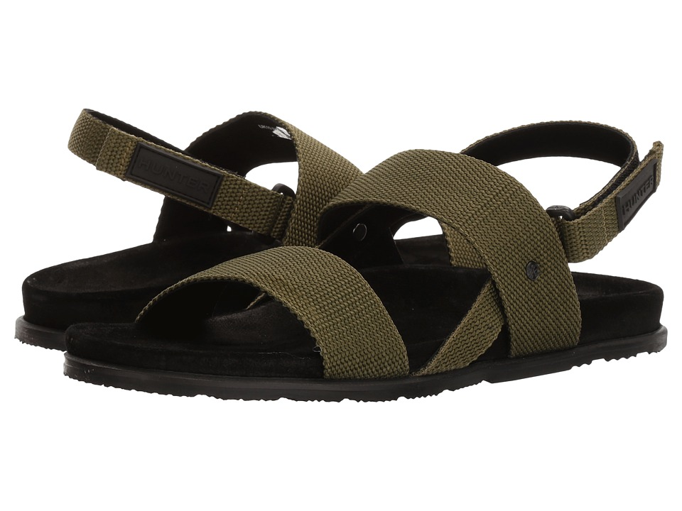 Hunter - Double Strap Webbing Sandal (Cactus) Men's Sandals