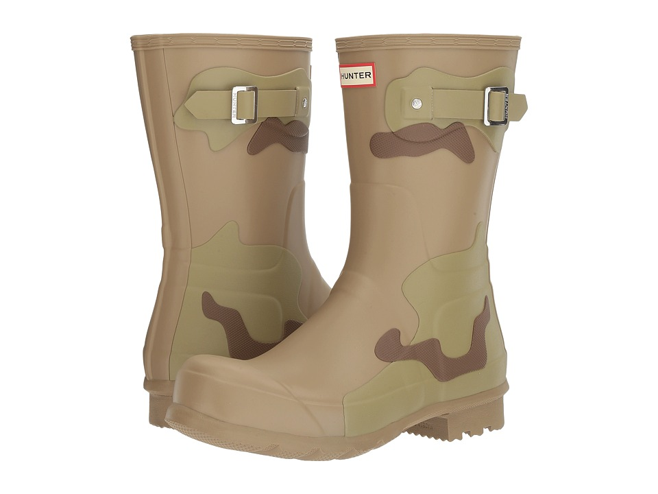 Hunter - Original Short Desert Camo Layers (Pale Sand/Sage/Light Khaki Brown) Men's Rain Boots