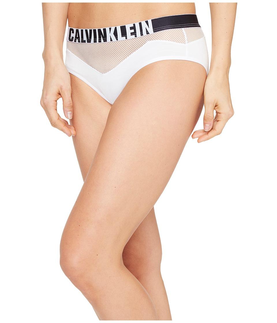 Calvin Klein Underwear - CK Logo Hook Up Hipster (White) Women's Underwear