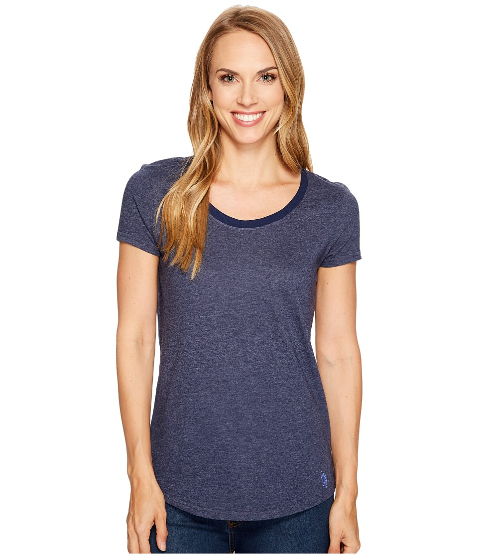 U.S. POLO ASSN. - Soft Heather Scoop Neck T-Shirt (Tribal Navy) Women's T Shirt