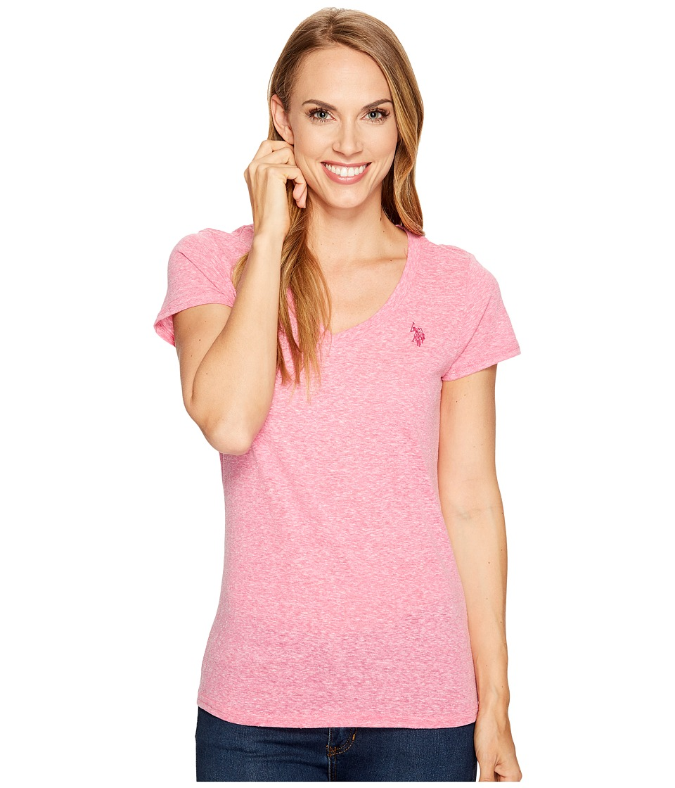 U.S. POLO ASSN. - V-Neck T-Shirt (Tiare Orchid) Women's T Shirt