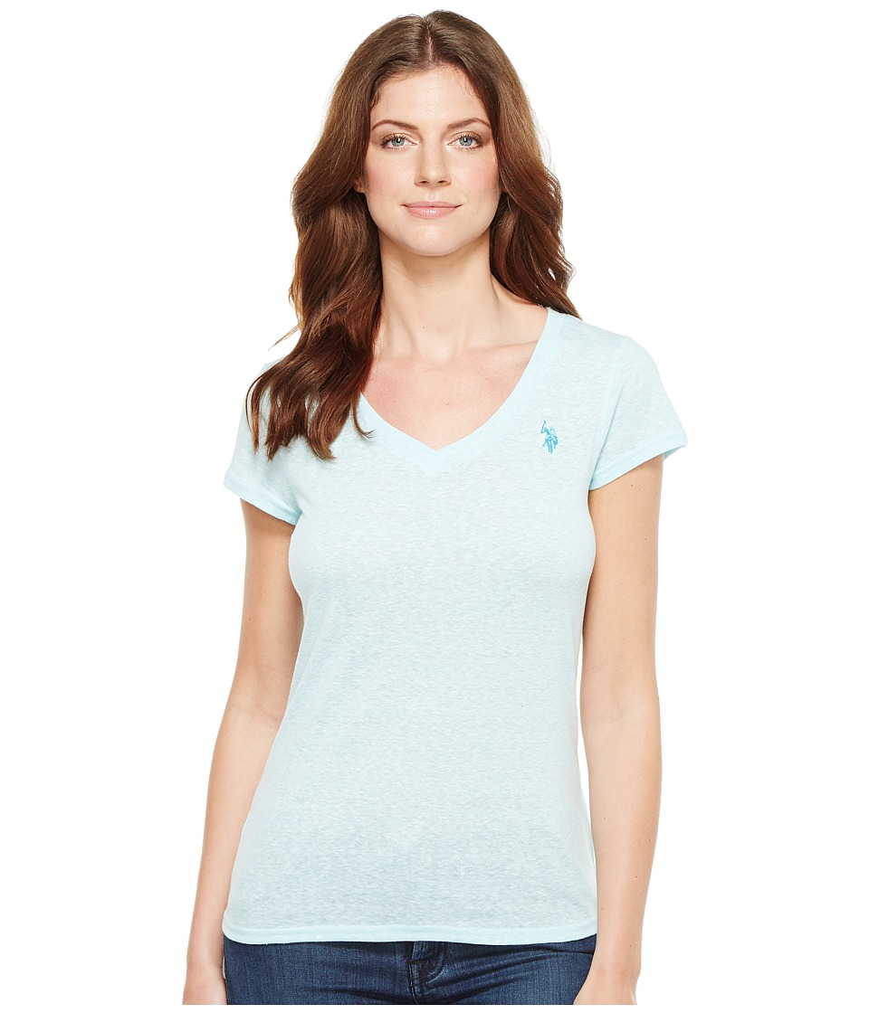 U.S. POLO ASSN. - V-Neck T-Shirt (Spring Water) Women's T Shirt