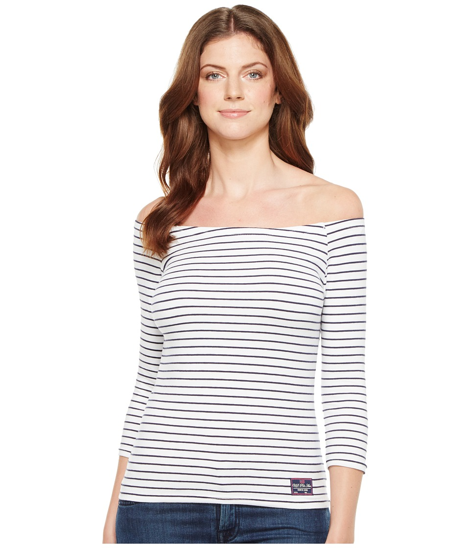 U.S. POLO ASSN. - Off Shoulder Tee (Optic White) Women's T Shirt