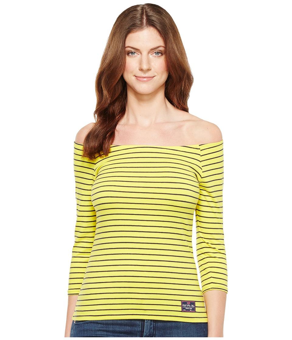 U.S. POLO ASSN. - Off Shoulder Tee (Eternal Sun) Women's T Shirt