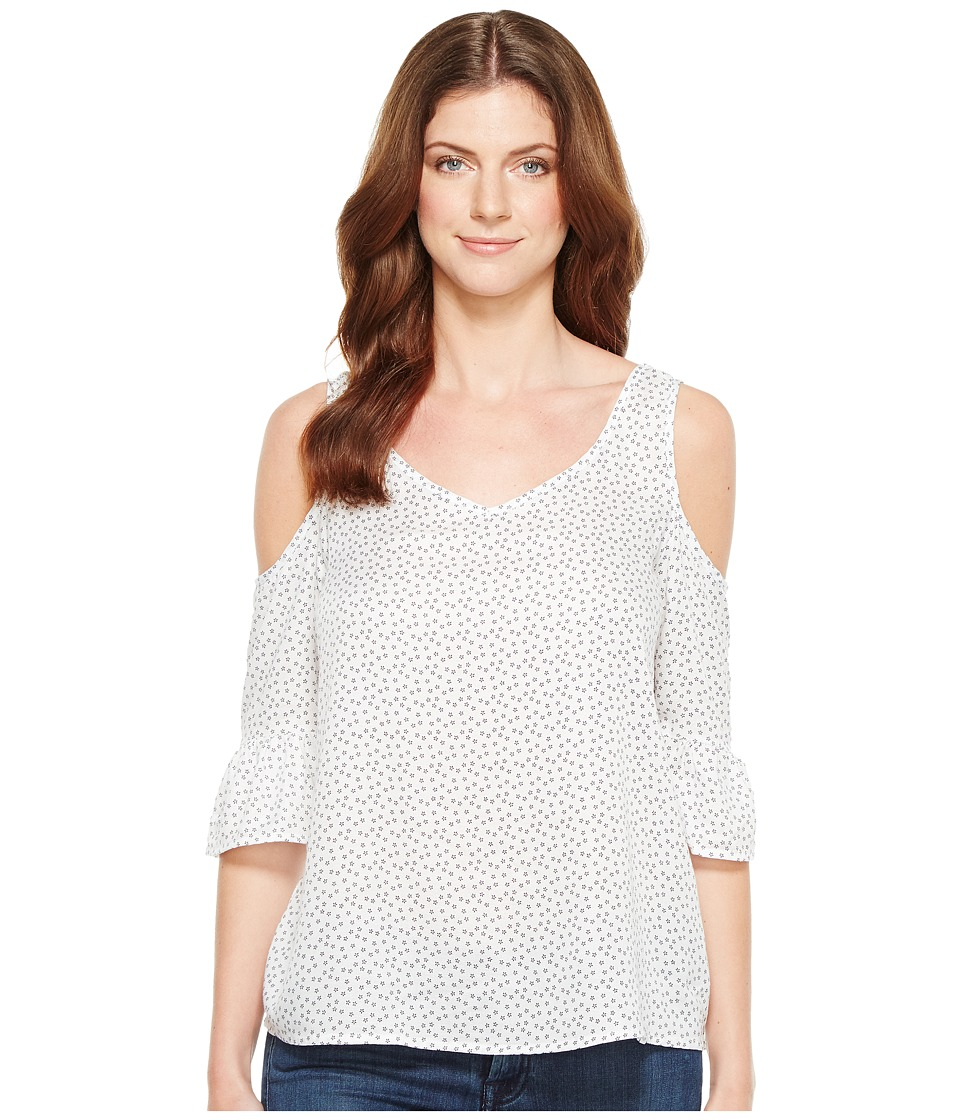 U.S. POLO ASSN. - Open Shoulder Blouse (Optic White) Women's Blouse