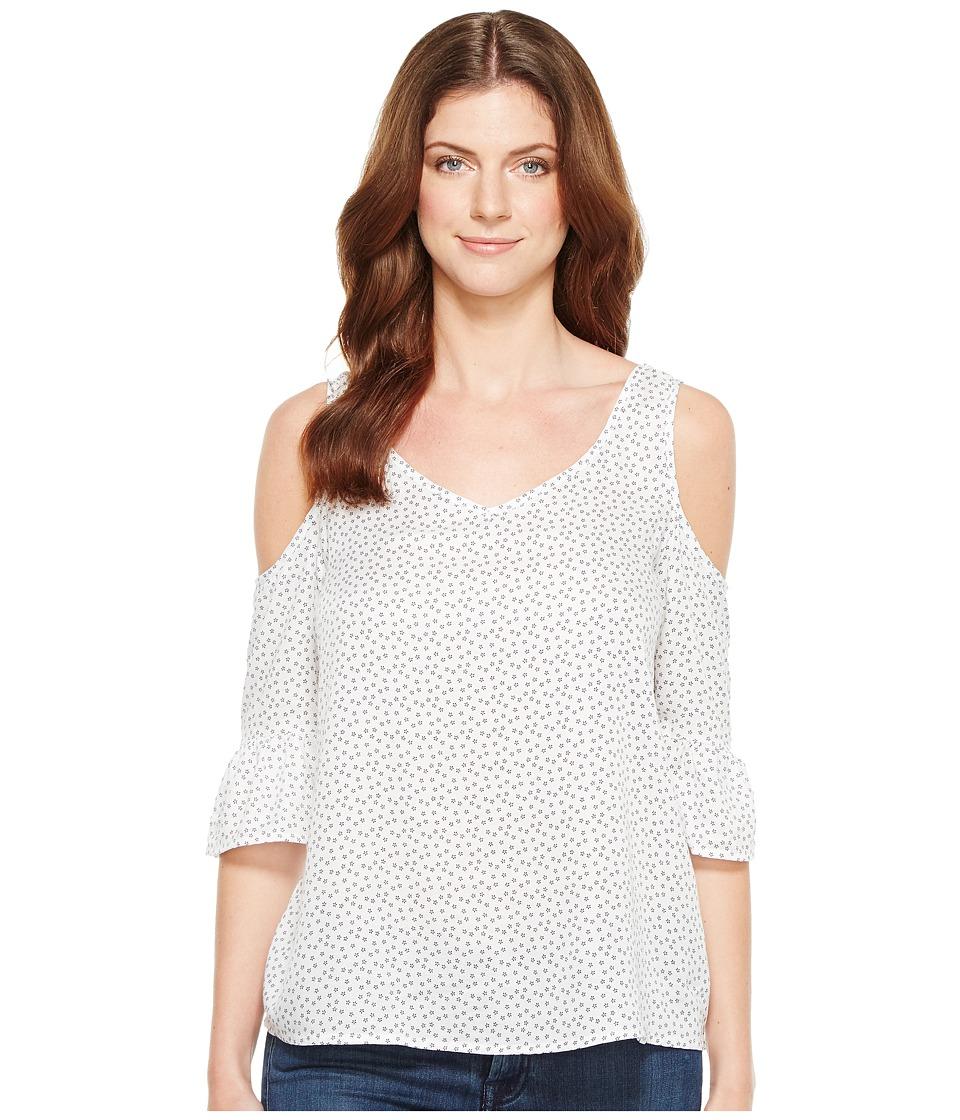 U.S. POLO ASSN. - Open Shoulder Blouse (Optic White) Women's Blouse
