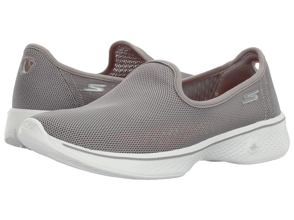 SKECHERS Performance - Go Walk 4 - Airy (Gray) Women's Shoes