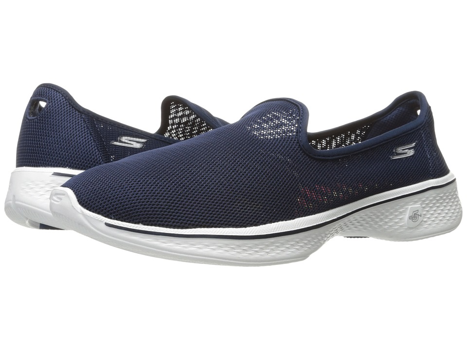 SKECHERS Performance - Go Walk 4 - Airy (Navy/White) Women's Shoes