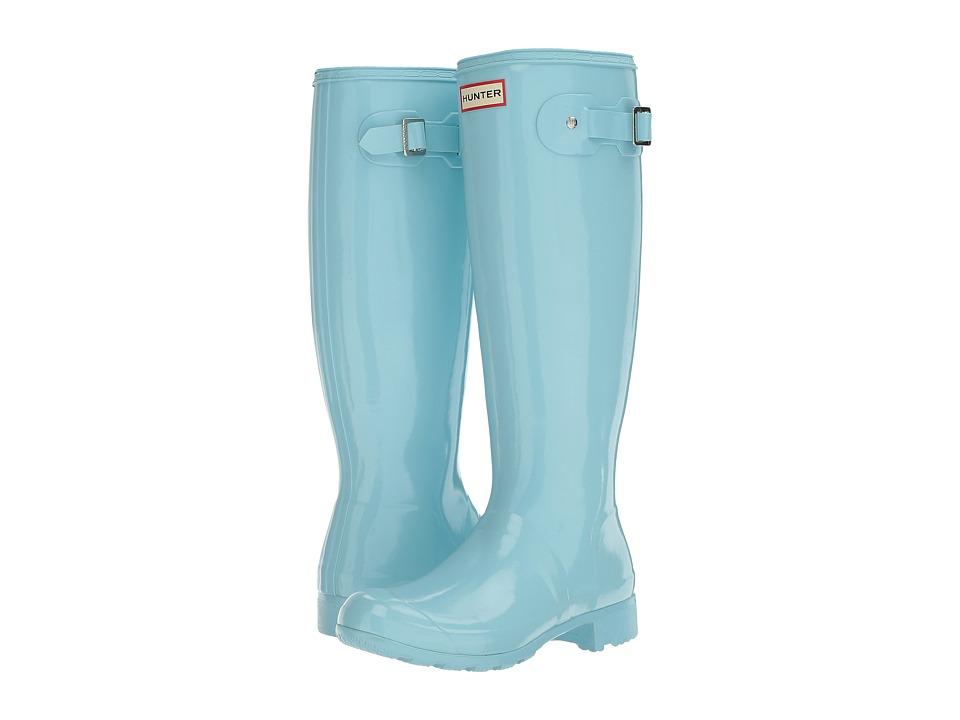 Hunter - Original Tour Gloss (Pale Mint) Women's Rain Boots