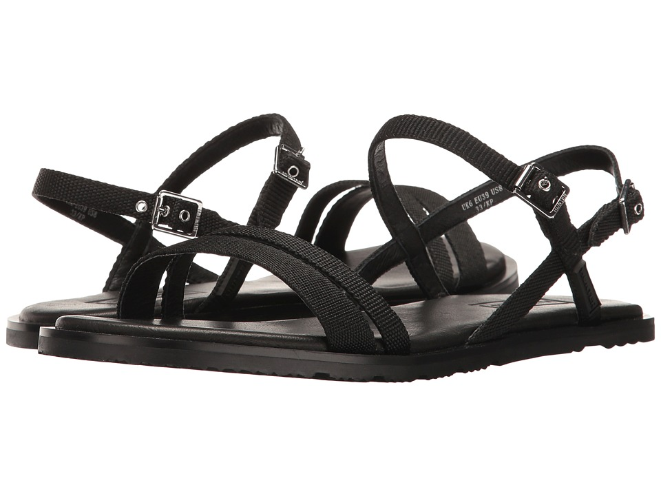 Hunter - Original Ticker Tape Sandal (Black) Women's Sandals