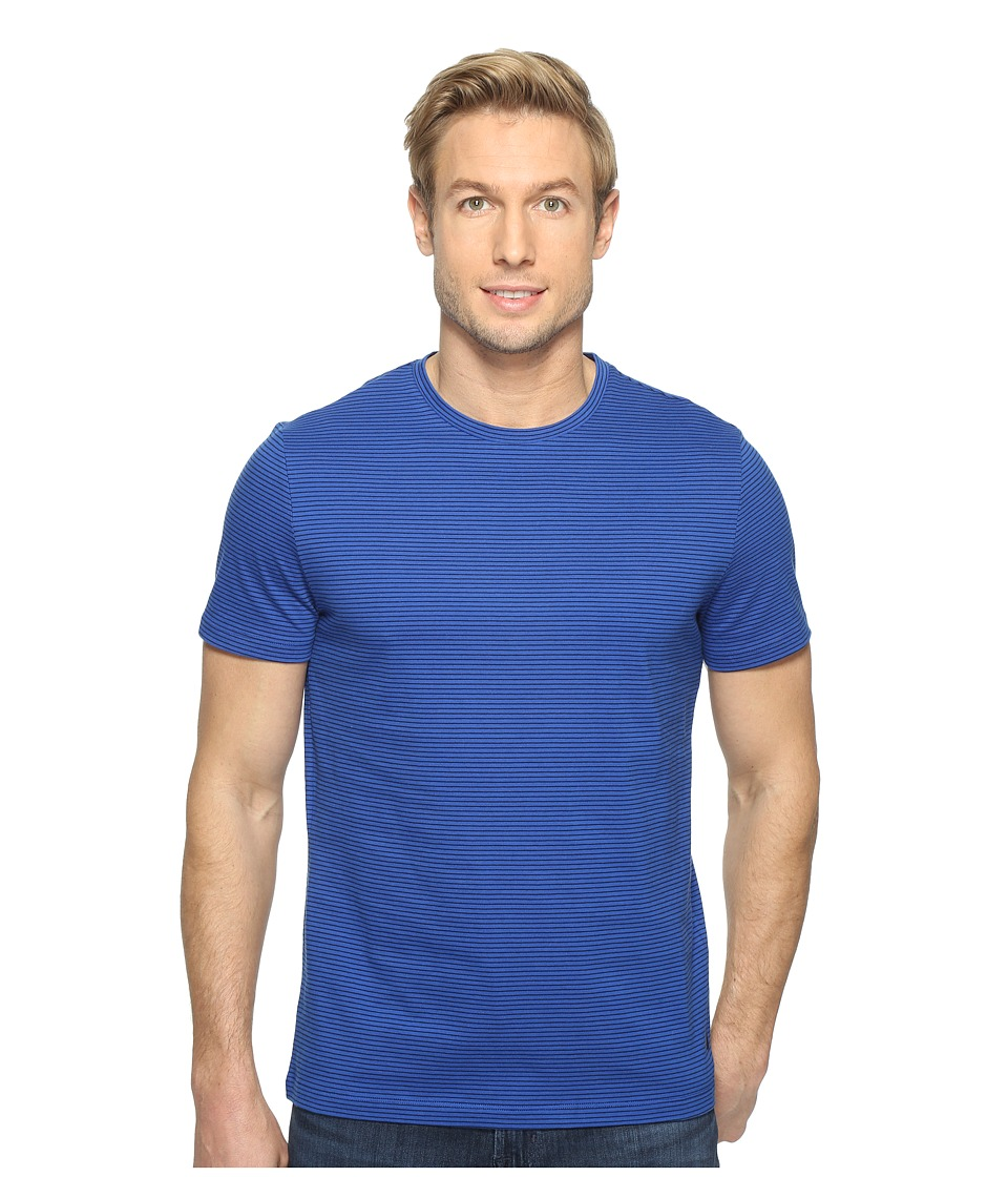 Nautica - Short Sleeve Stripe Crew (Bright Cobalt) Men's T Shirt
