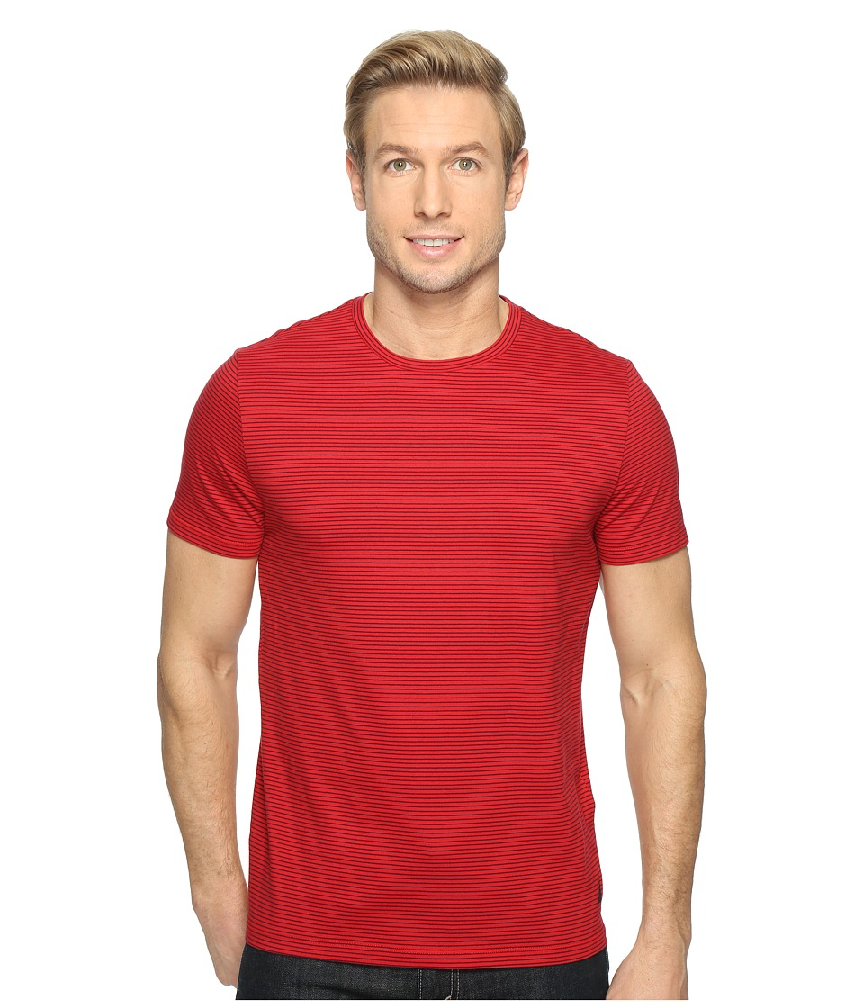 Nautica - Short Sleeve Stripe Crew (Nautica Red) Men's T Shirt