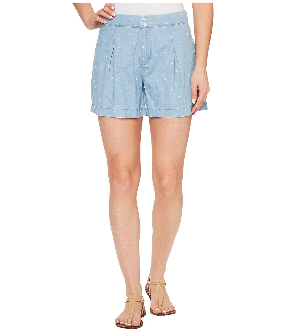 U.S. POLO ASSN. - Star Print Pleated Shorts (Pale Washed Star) Women's Shorts