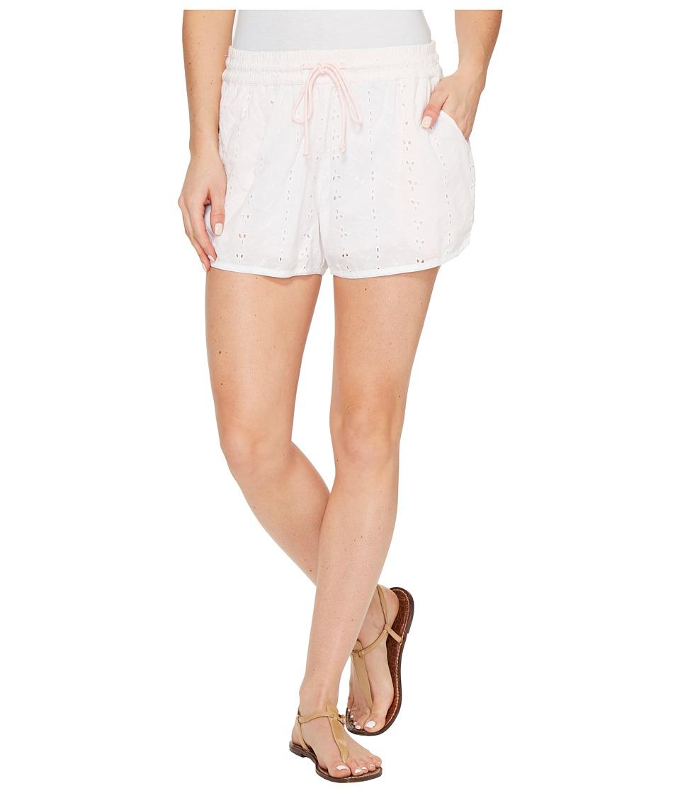 U.S. POLO ASSN. - Eyelet Dolphin Shorts (Optic White) Women's Shorts