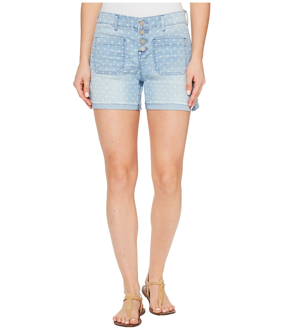U.S. POLO ASSN. - Button Fly Denim Shorts (Light Polka Dot) Women's Shorts