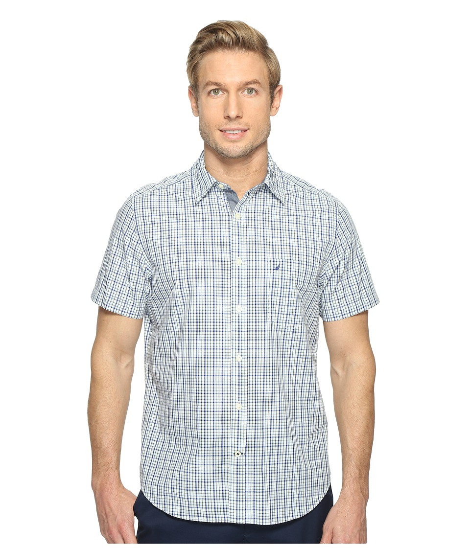 Nautica - Short Sleeve Multi Plaid Shirt (Bright Cobalt) Men's Clothing