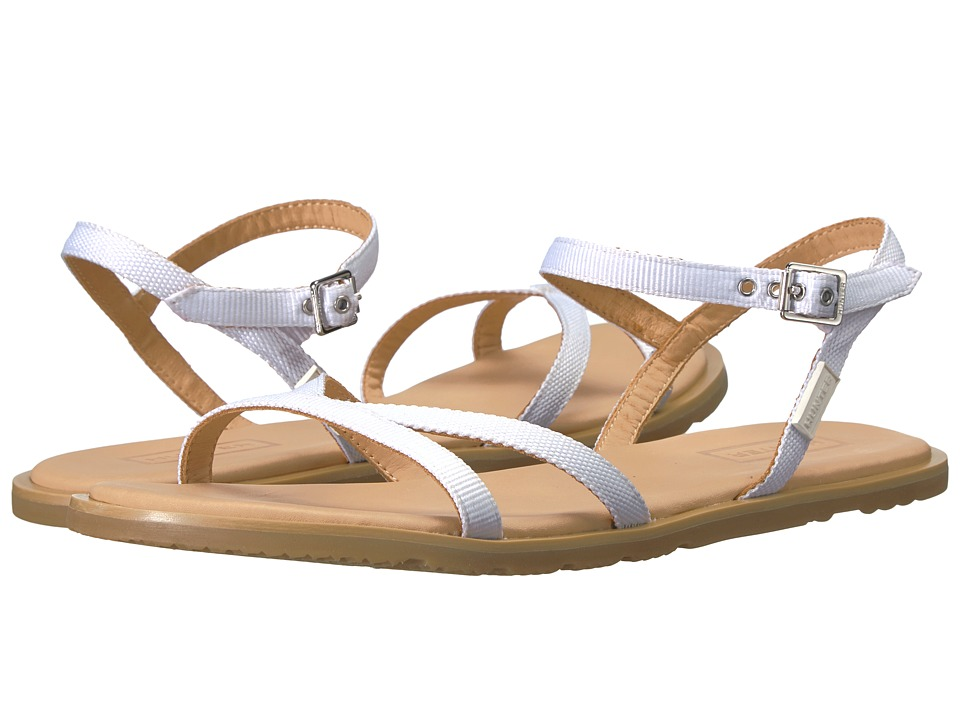 Hunter - Original Web Cross Front Sandal (White/Gum) Women's Sandals