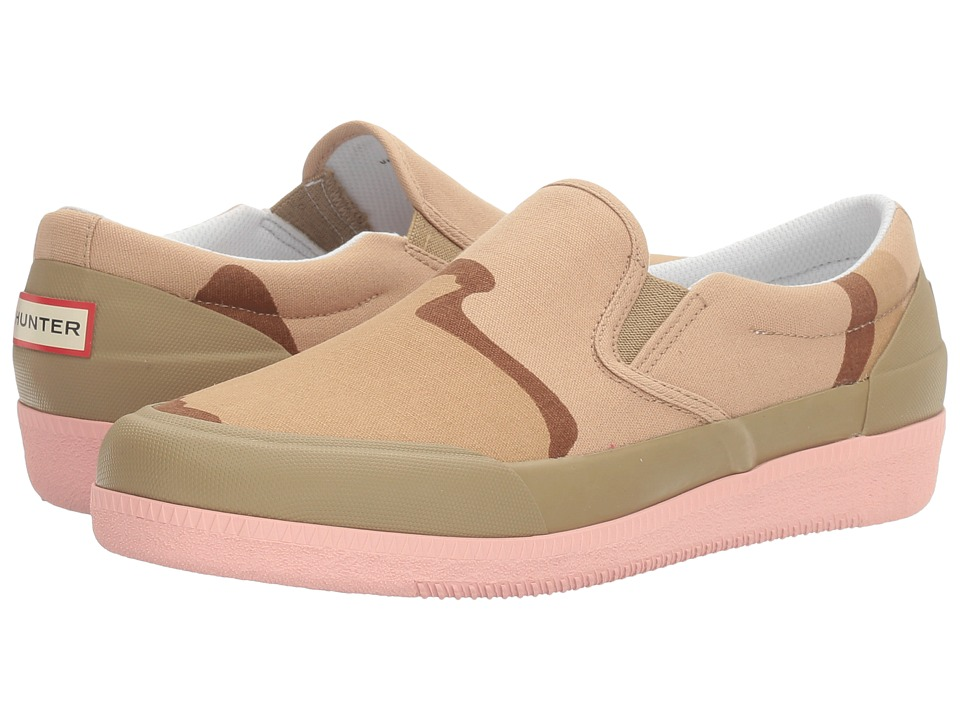 Hunter Original Canvas Plimsoll Desert Camo (Pale Sand/Pink Sand) Women